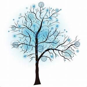 Decorative Winter Tree  Vector Illustration