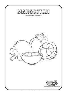 kolorowanki dla dzieci rośliny arbuz kolorowanka z