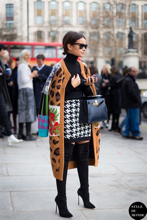 London Fashion Week Street Style Miroslava Duma