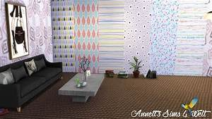 Modern Wallpapers At Annetts Sims 4 Welt Sims 4 Updates