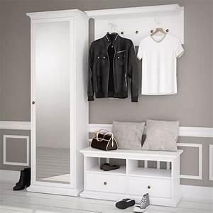 Garderobe Mit Spiegel : garderobe paris landhaus wei dielenschrank mit spiegel bank garderobenpaneel ebay ~ Eleganceandgraceweddings.com Haus und Dekorationen