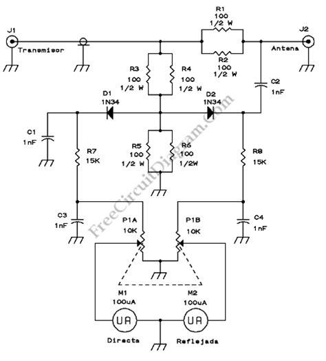 swr meter electronic circuit diagram