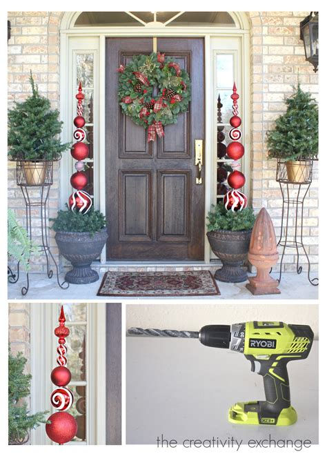 diy tall ornament topiary