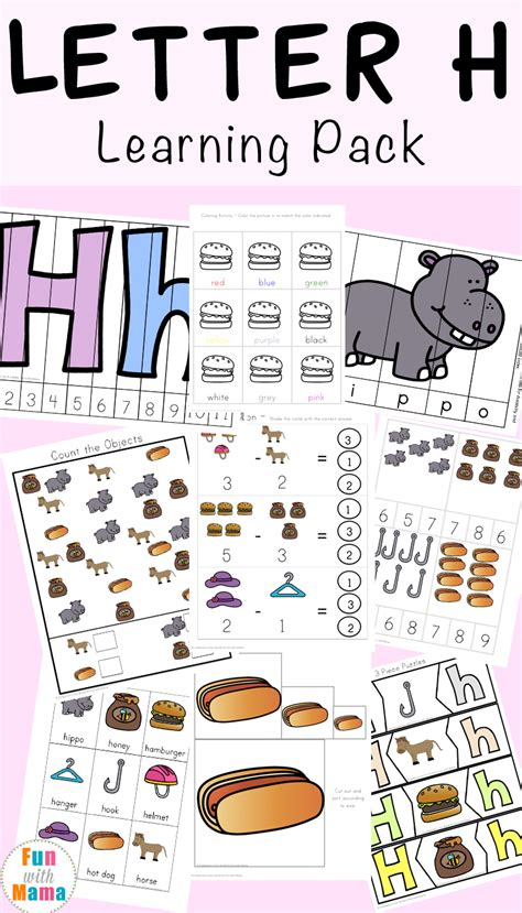 letter h worksheets activities fun with