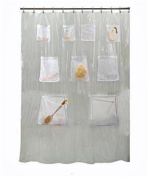 shower curtain with pockets clear shower curtain bathroom nine storage pockets ebay