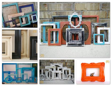 Check out these awesome diy photo and picture frame crafts for unique design ideas for 2021! Trending Design - Empty Vintage Picture Frame Decor | http://www.handmadeology.com/