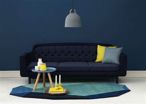 canape bleu marine awesome deco salon avec canape bleu contemporary