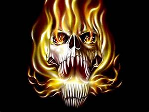 scary skulls images | ... etc hand and ink true fire skull ...