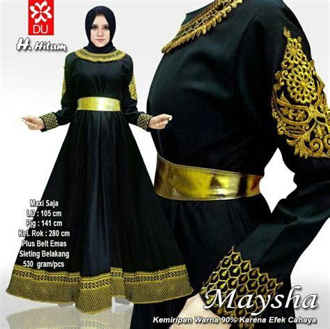 gamis syar i kombi brukat baju gamis balotelli kombinasi maysha hitam model baju