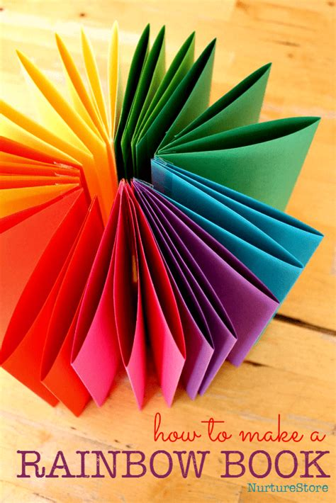 How To Make A Rainbow Zigzag Book Nurturestore