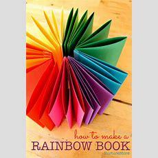 How To Make A Rainbow Zigzag Book Nurturestore