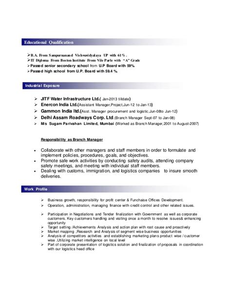 Education Qualification Table Format In Resume by Sle Resume Format November 2015