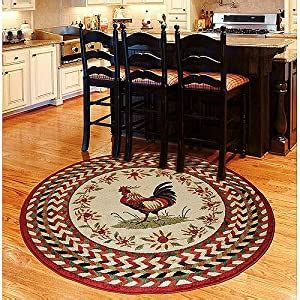 amazoncom orian rooster braid rouge   kitchen