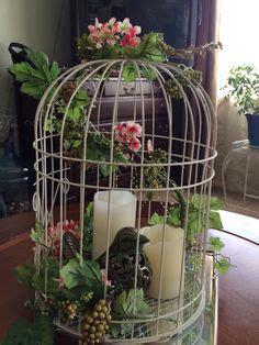la cage 224 oiseaux d 233 corative tendance shabby chic archzine fr blomsterarrangemang shabby