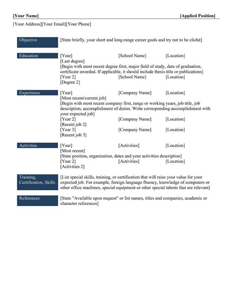 essential categories in a resume 9 best different types of resumes formats sle best professional resume templates