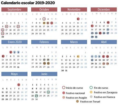 calendario escolar en aragon