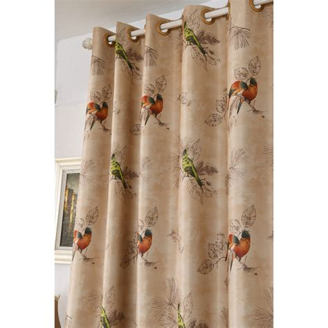 coffee bird insulated chic beautiful grommet curtains