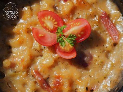 recettes de gratin de pates et jambon