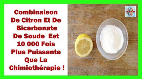 la combinaison citron bicarbonate de soude est