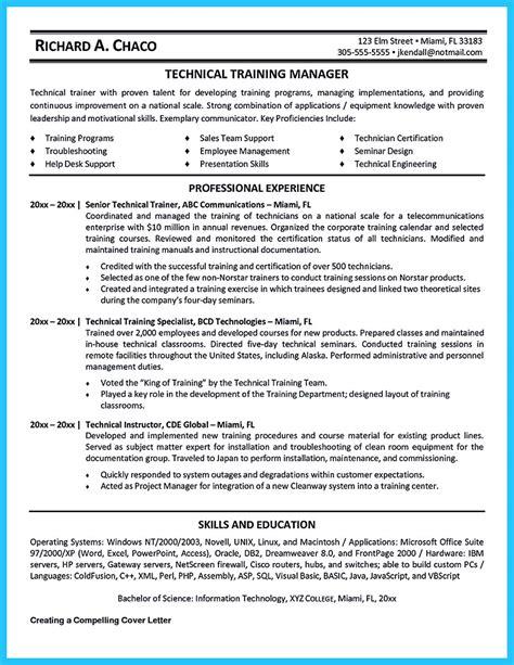 brilliant corporate trainer resume samples   job