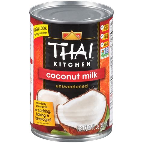 thai kitchen organic coconut milk thai kitchen unsweetened coconut milk 13 66 fl oz from 8446