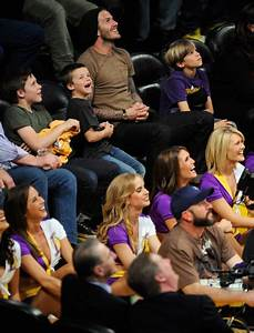David Beckham Photos Photos - Celebrities At The Lakers ...