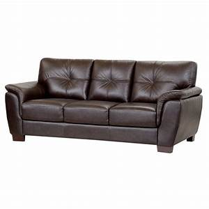 Abbyson Living Timston Leather Sofa In Brown EBay