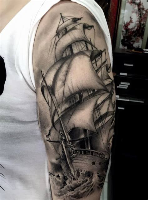 Verani Tattoo - Porto Alegre | Ship tattoo, Nautical ...
