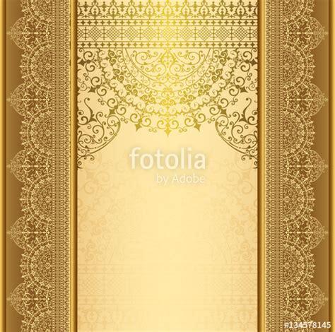 vertical background  gold filigree frame border