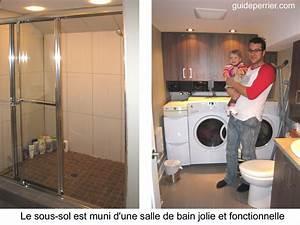 Sous sol renove renovation reussie a montreal for Salle de bain design avec résine décorative pour sol