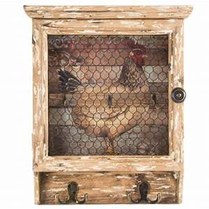 Boite A Cles Murale : armoire boite cl s xxl en bois et m tal design coq ~ Teatrodelosmanantiales.com Idées de Décoration