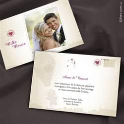 remerciement mariage carte de remerciement mariage texte