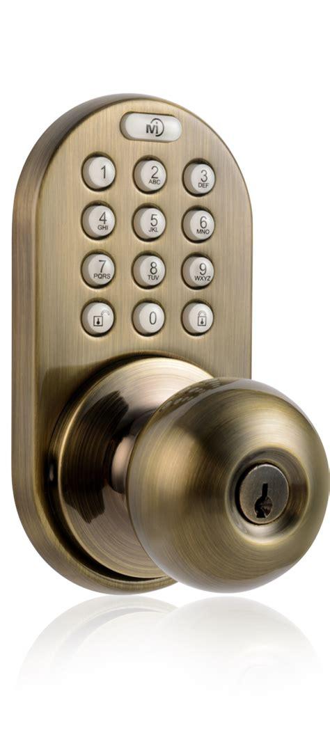 keypad door knob milocks dkk 02 keyless entry knob door lock with