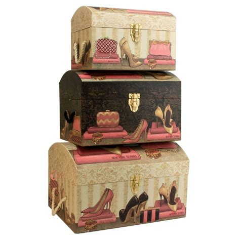 Large Bedroom Trunk by Set Of 3 Large Pretty Storage Trunks Decorative Bedroom