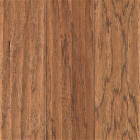 Uniclic Laminate Flooring Formaldehyde by Mohawk Hickory Chestnut Scrape 3 8 In Thick X 5 1 4 In