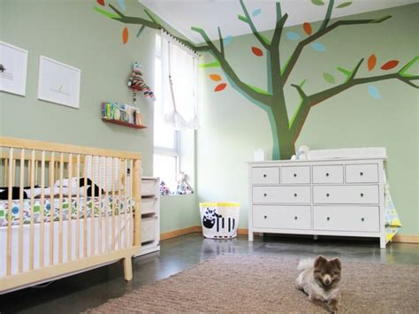 Niedliche Babyzimmer Wandgestaltung-inspirierende