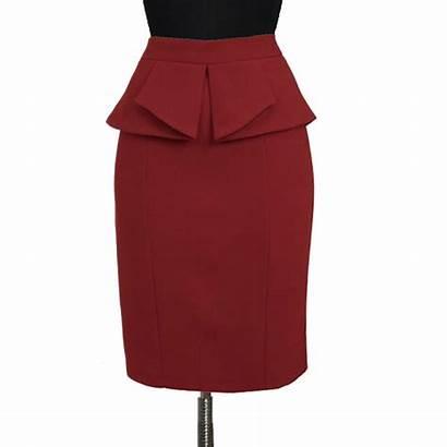 Skirt Peplum Wine Pencil Plus Skirts Custom