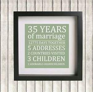 1000 ideas about 35th wedding anniversary on pinterest With 35th wedding anniversary gift ideas