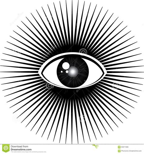 seeing lights in one eye all seeing eye stock illustration image of esoteric