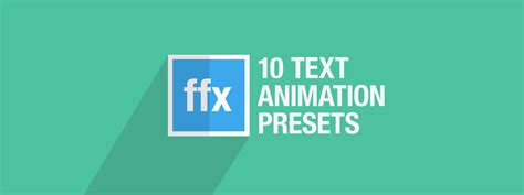 effects text animation presets text