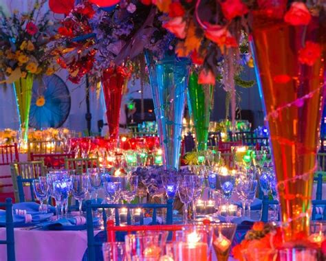 colorful table ls 1000 ideas about rainbow wedding centerpieces on