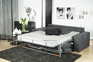 Canape convertible avec un lit confortable triomphe for Canapé lit convertible confortable