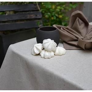 Nappe Ovale Enduite : nappe enduite ronde ou ovale unie lin coton ~ Teatrodelosmanantiales.com Idées de Décoration
