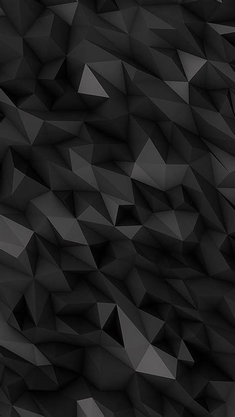 3d Black Polygons Wallpaper Iphone  3d Iphone Wallpaper
