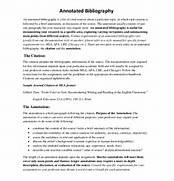 10 Free Annotated Bibliography Templates Free Sample Best Photos Of Example Of Annotated Bibliography APA Style Annotated Bibliography Templates Free Word PDF Format 9 Apa Format Bibliography Example Bibliography Format