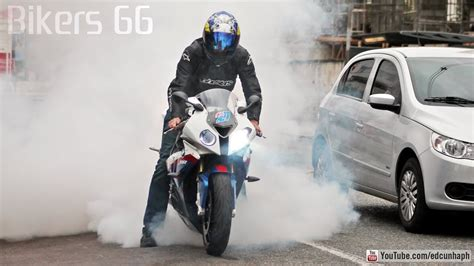 bmw srr burnout yamaha   srad cbr wheelie hp