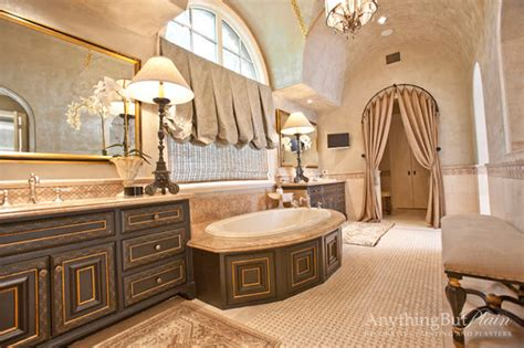 chinoiserie cabinetry  grand master bath traditional