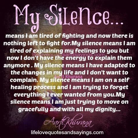 Silence Love Quotes And Sayings