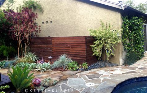 landscaping ideas to hide pool equipment reclaimed wood pool equipment fence eclectic landscape los angeles by ketti kupper