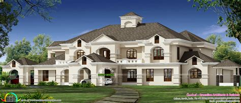911 Sq-yd Luxury Colonial House Architecture